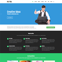 flaty- Corporate site template